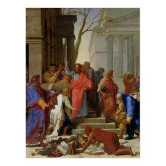 The Sermon of St. Paul at Ephesus, 1649 Postcard