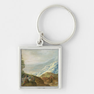 The Sermon on the Mount Silver-Colored Square Key Ring