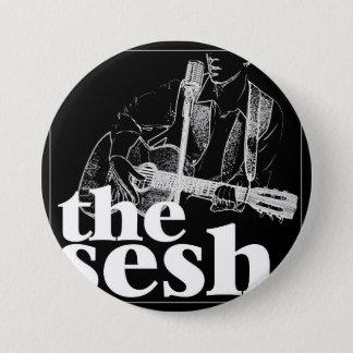 """""""the sesh"""" 3"""" Black Circular Button"""