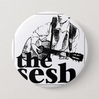 """""""the sesh"""" 3"""" Circular Button"""