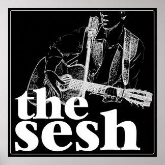 """""""the sesh"""" Black Poster (24""""x24"""")"""