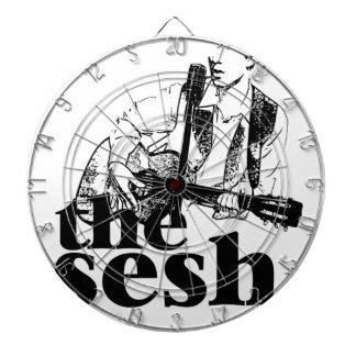 """the sesh"" Dartboard (White)"