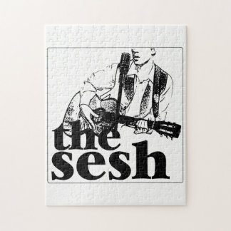 """the sesh"" Puzzle (White)"