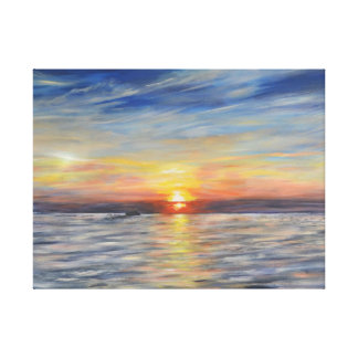 The Setting Sun Stretched Canvas Print