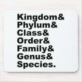 The Seven Categories of Biological Taxonomy Mousepads