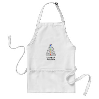The seven chakras with their respective colors standard apron