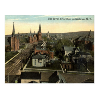 The Seven Churches, Jamestown NY c1915 vintage Postcard