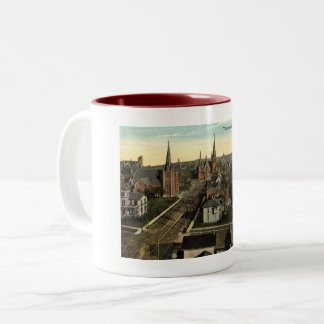 The Seven Churches, Jamestown NY c1915 vintage Two-Tone Coffee Mug