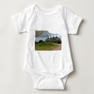 The Seven Sisters, Cuckmere Haven, Sussex Baby Bodysuit