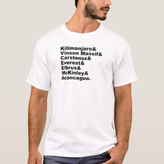 The Seven Tallest Mountains On Each Continent T-Shirt