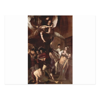 The Seven Works of Mercy by Caravaggio Postcard
