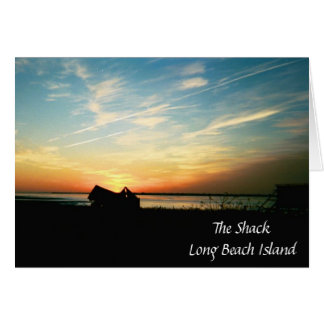 The Shack Silhouette Sunset Greeting Card