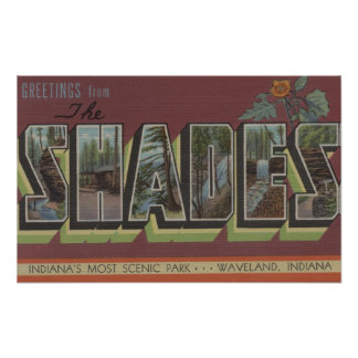The Shades - Large Letter Scenes Poster