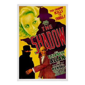 The Shadow - Vintage 1933 Movie Poster