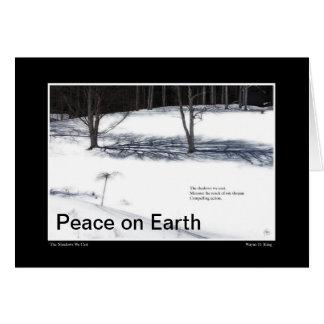 The Shadows We Cast Haiku Peace on Earth Card
