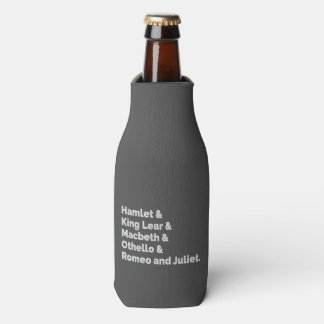 The Shakespeare Plays I Bottle Cooler