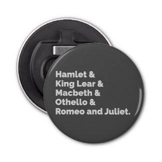 The Shakespeare Plays I Bottle Opener