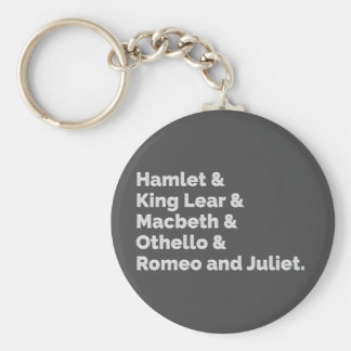 The Shakespeare Plays I Key Ring