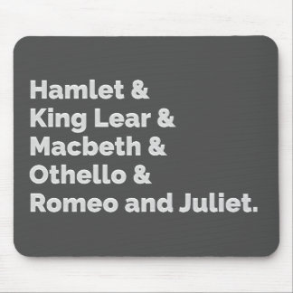 The Shakespeare Plays I Mouse Pad