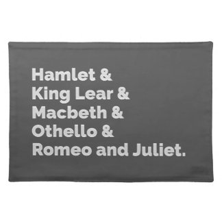 The Shakespeare Plays I Placemat