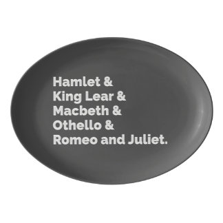 The Shakespeare Plays I Porcelain Serving Platter