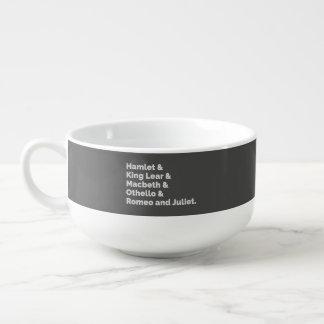 The Shakespeare Plays I Soup Mug