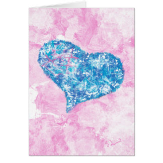 The shape of my heart - abstract art greeting card