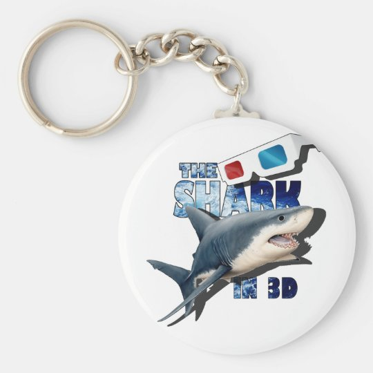 The Shark Movie Basic Round Button Key Ring