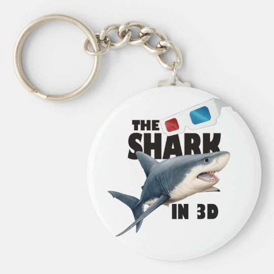 The Shark Movie Basic Round Button Key Ring