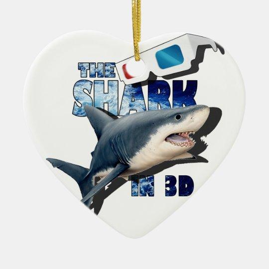 The Shark Movie Ceramic Heart Decoration