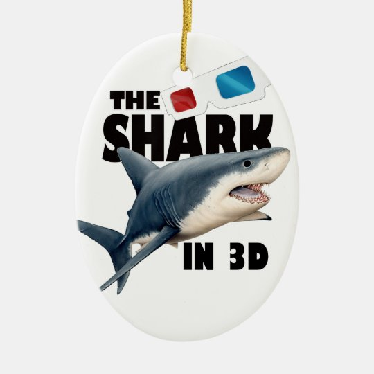 The Shark Movie Ceramic Oval Decoration