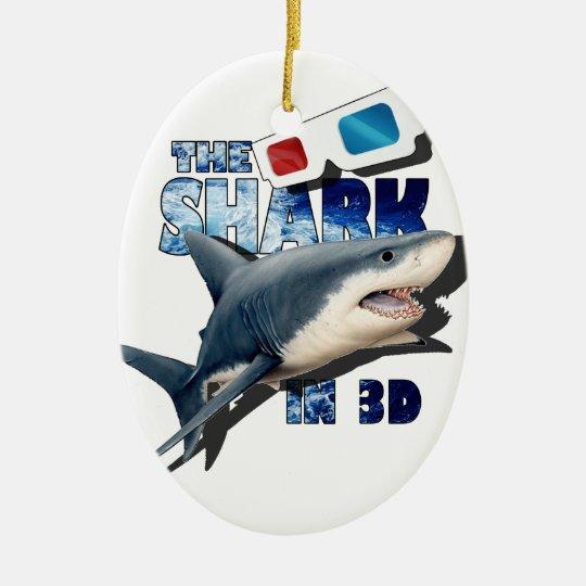 The Shark Movie Ceramic Oval Decoration