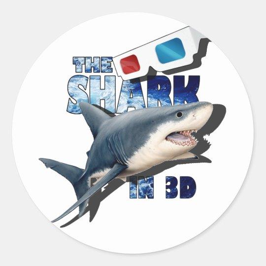 The Shark Movie Classic Round Sticker