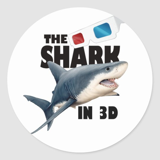 The Shark Movie Classic Round Sticker