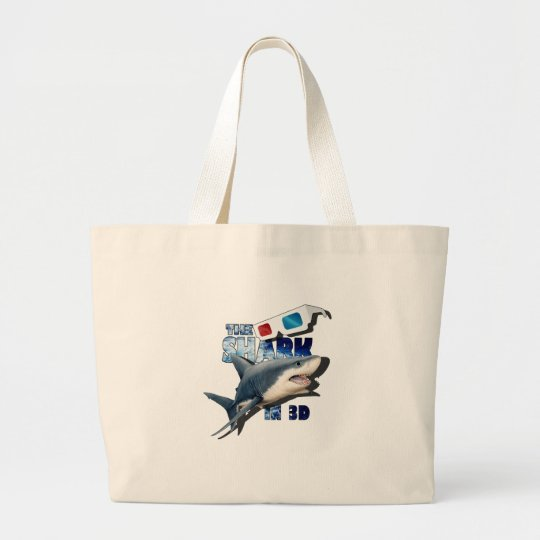 The Shark Movie Large Tote Bag