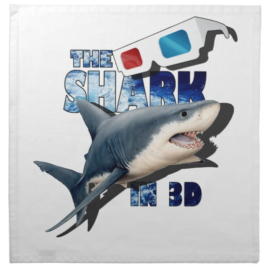 The Shark Movie Printed Napkin