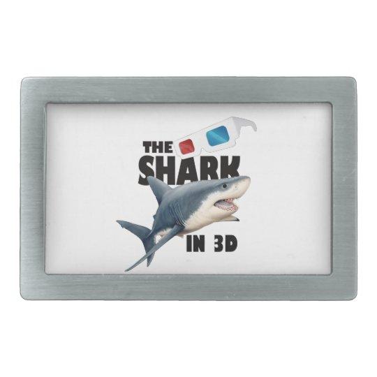 The Shark Movie Rectangular Belt Buckle