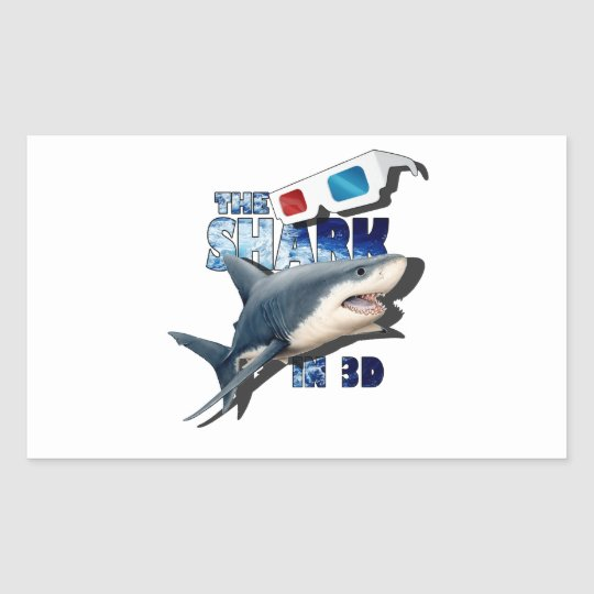 The Shark Movie Rectangular Sticker