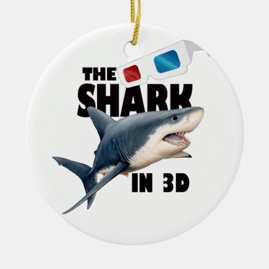 The Shark Movie Round Ceramic Decoration