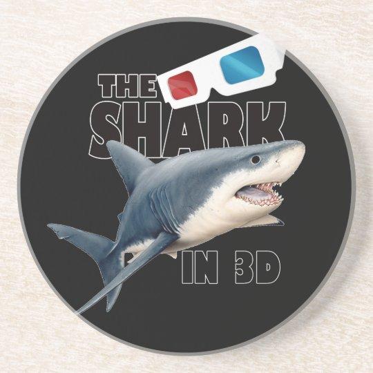 The Shark Movie Sandstone Coaster