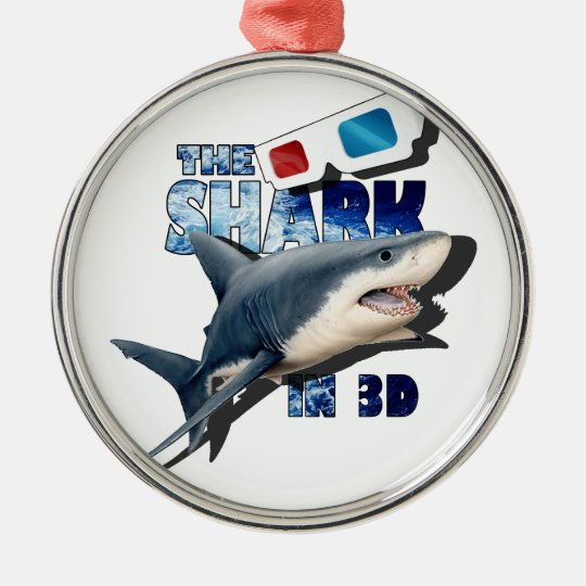 The Shark Movie Silver-Colored Round Decoration