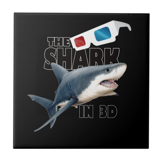 The Shark Movie Small Square Tile