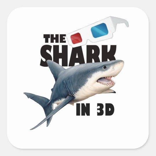 The Shark Movie Square Sticker