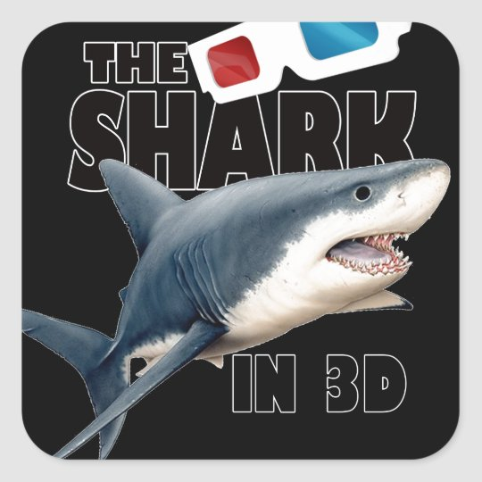 The Shark Movie Square Sticker