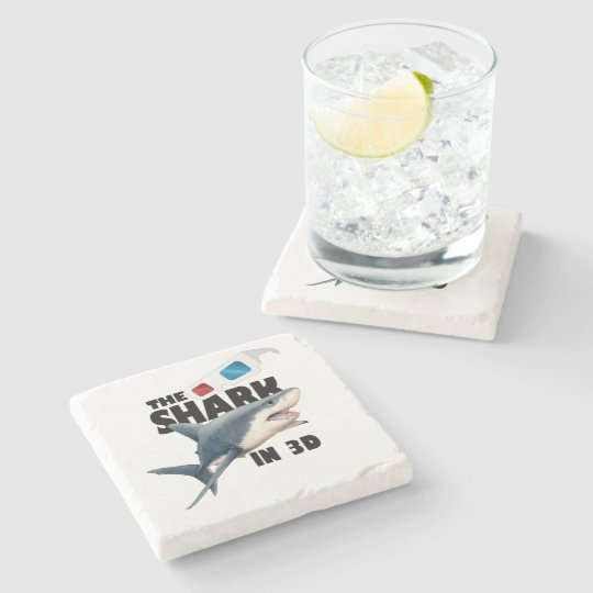 The Shark Movie Stone Coaster
