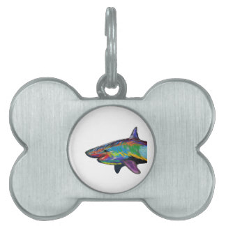 THE SHARK SPECTRUM PET NAME TAG