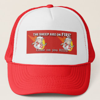 The Sheep are on Fire baseball cap