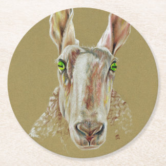The Sheep Round Paper Coaster