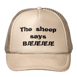 The sheep says bææææ mesh hat