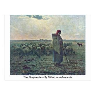 The Shepherdess By Millet (Ii), Jean-Francois Postcard